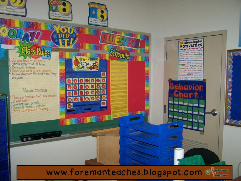 Classroom Ideas For Primary School ~ Foreman teaches classroom themes literacy activities