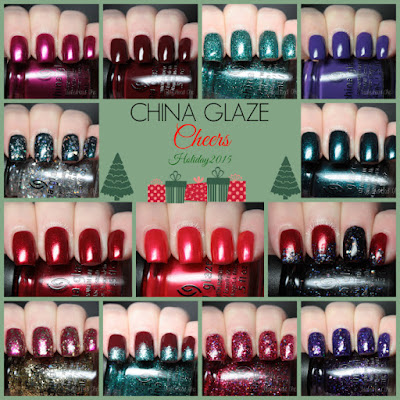 china glaze cheers holiday review swatches