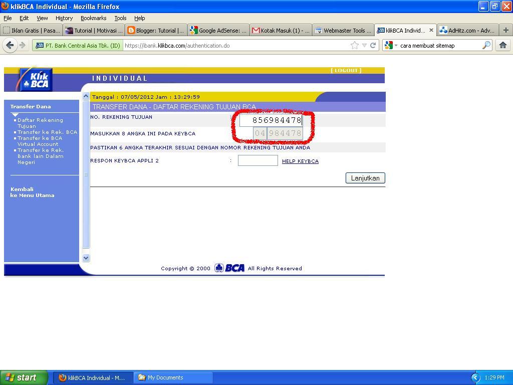 Nomor Rekening Bank