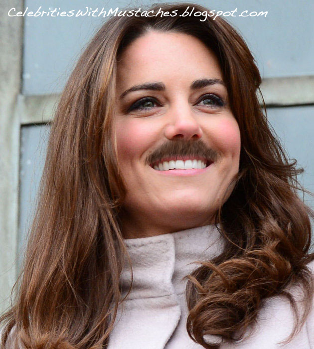 Kate Middleton sports a royal mustache.