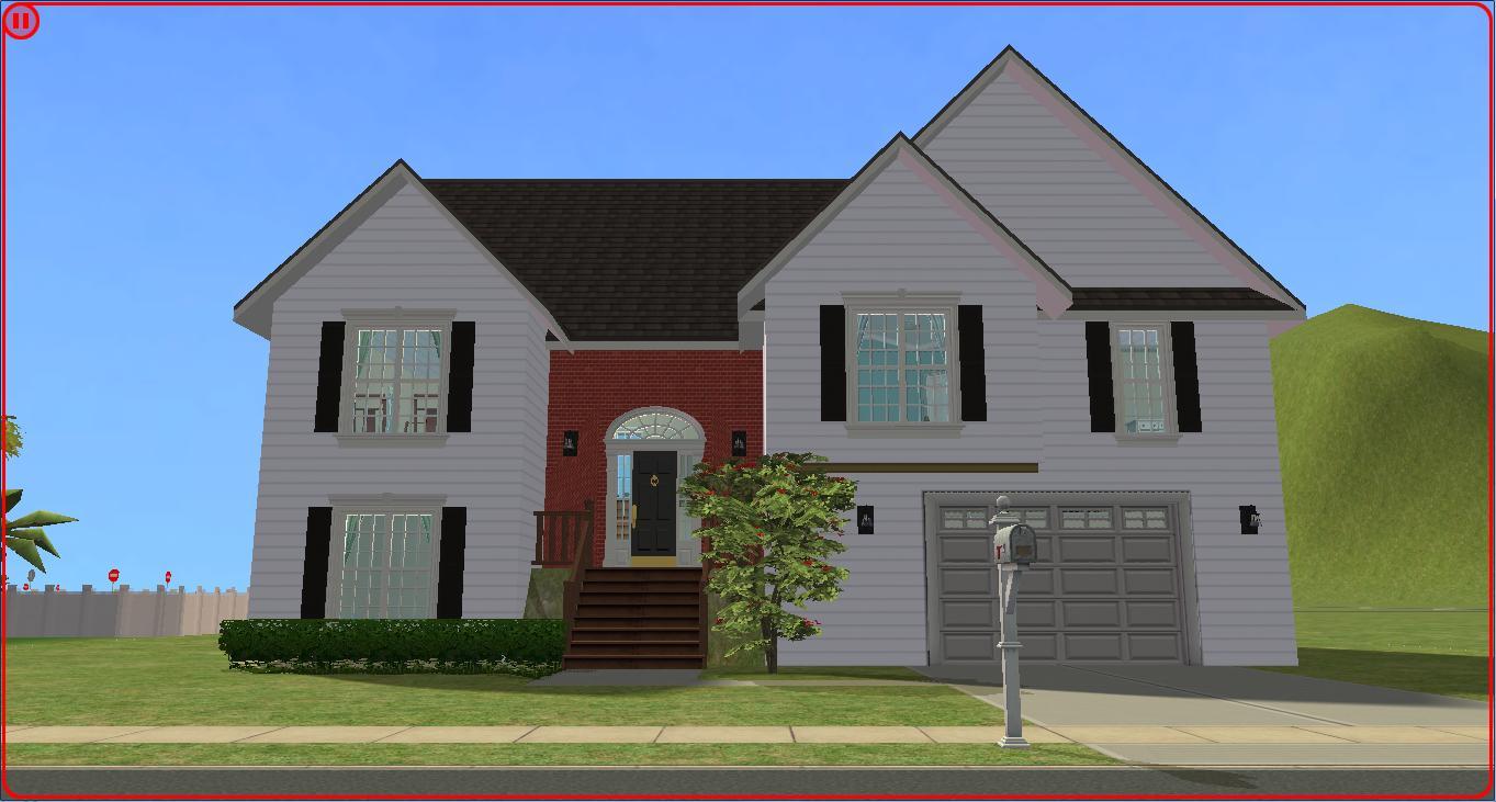 Sims 2 lot downloads split foyer for Split foyer homes