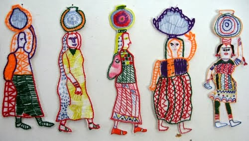 INDIAN EMBROIDERIES.MAHILA