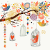 Birdcage:Florals and Birds