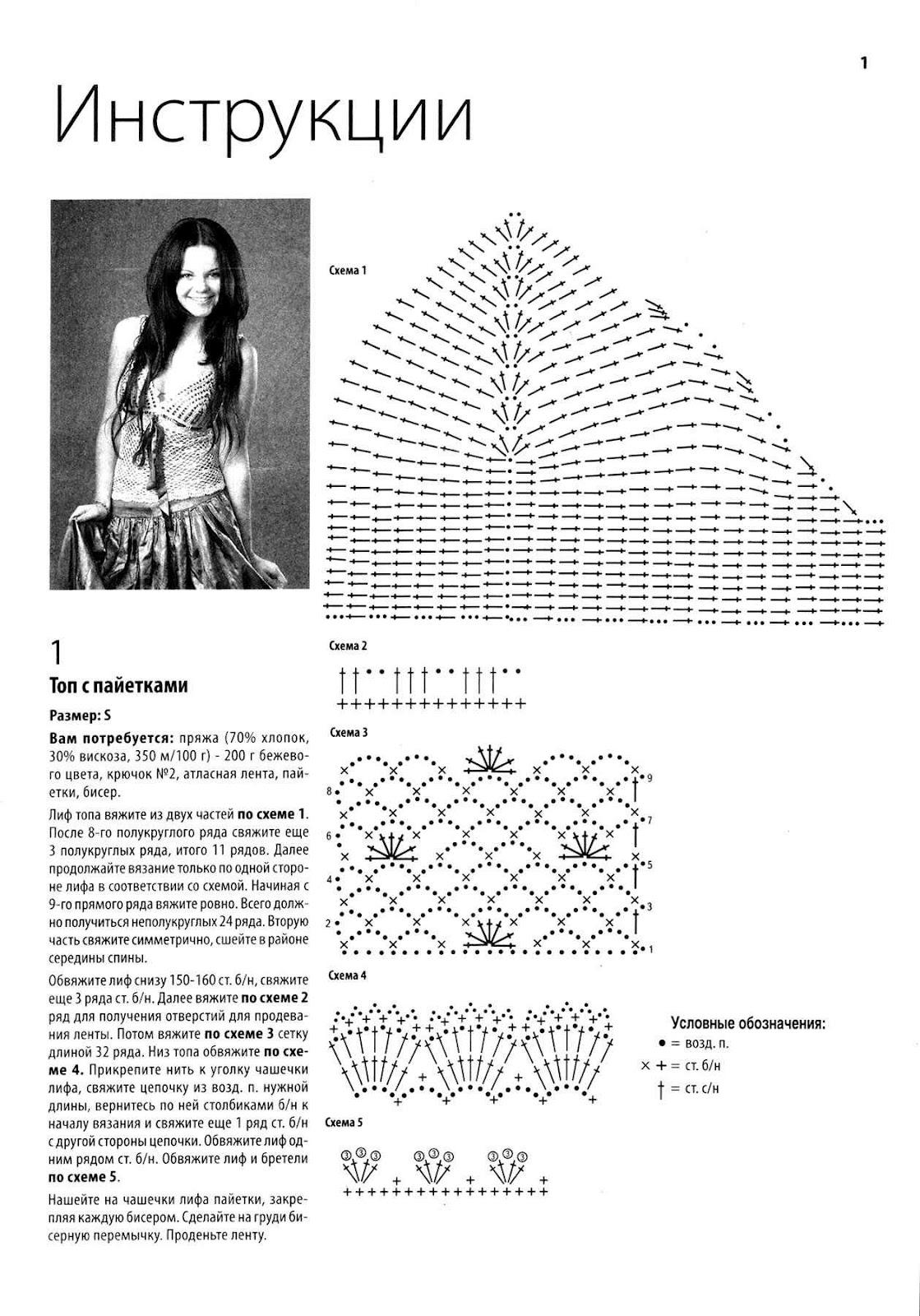 Схема и вязаных топиков