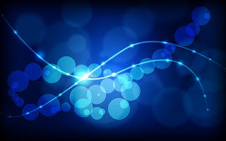 Blue Abstract Lights HD Wallpaper