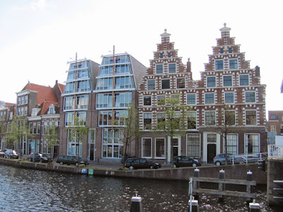 Old and New Building Fronts Haarlem