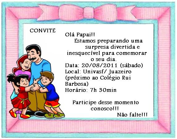 Escola Modelo Infantil Convite Dia Dos Pais