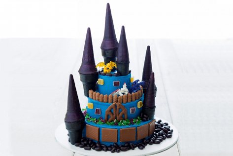 How to make a Dragon Castle Birthday Cake