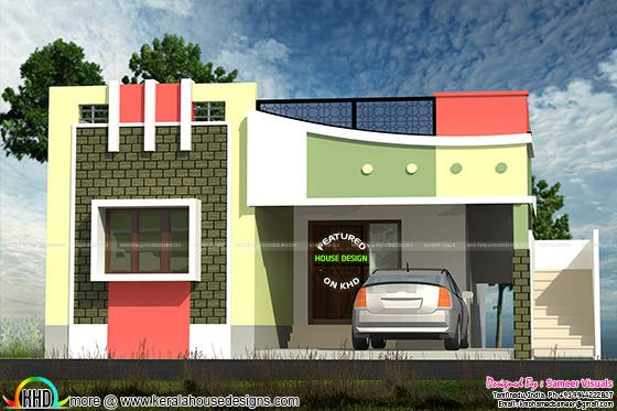 Small Tamilnadu home design