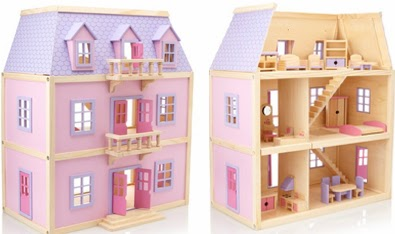 Melissa Amp Doug Tree House Play Set Melissa Doug Multi Level Solid Wood Dollhouse Front