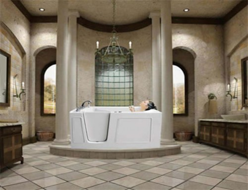 Trend homes luxury walk in bathtubs for everyone for Walk in tub bathroom designs
