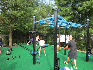 outdoor fitness workout move strong JCC monkey bars