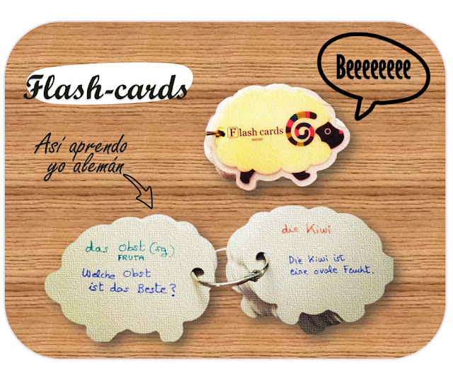 Flash-cards con forma de obeja
