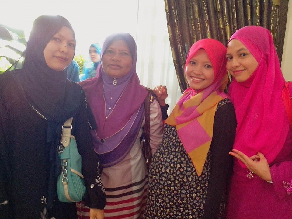 with my mom n sibling
