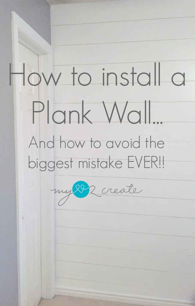You don't want to miss this tutorial on how to install a Plank wall...and how to avoid the biggest mistake EVER!!
