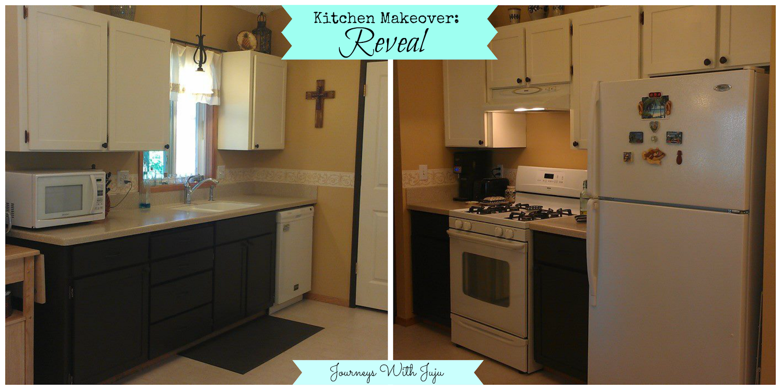 Journeys with juju kitchen cabinet makeover the reveal for Kitchen cabinets makeover