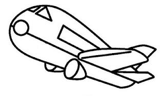 Desenhos de Avião para pintar