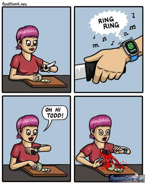 funny comics smartwatch picture