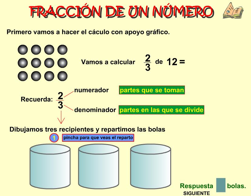 Fracción de un número