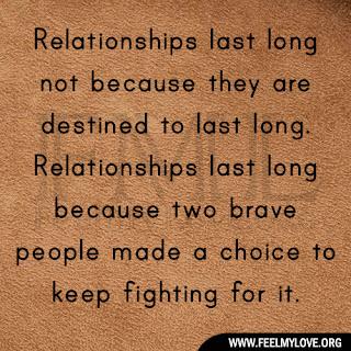 Relationships last long