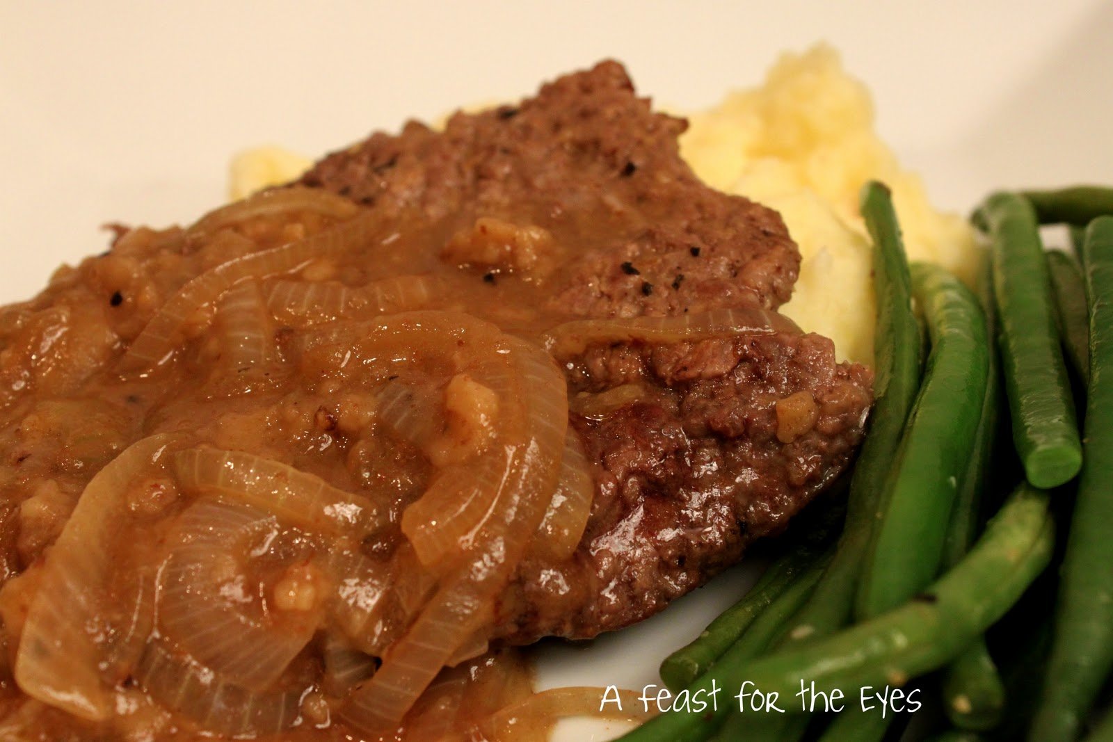 A Feast for the Eyes: Salisbury Steak with Onion Gravy ...