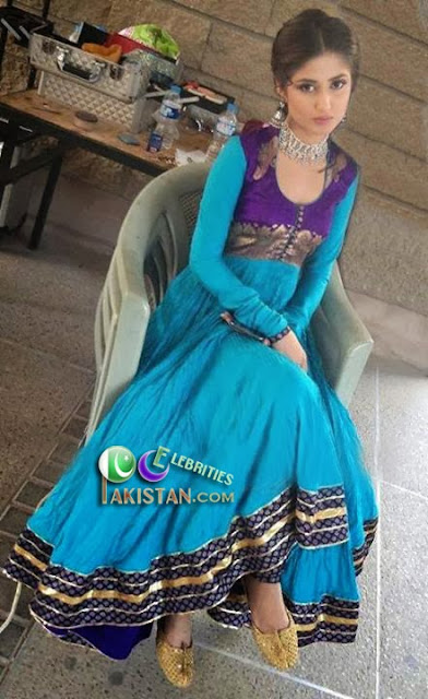 Sajal Ali as Anarkali in Commercial Shoot