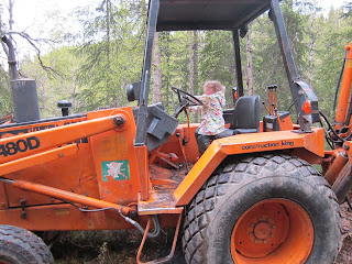 480D, Backhoe, Tractor, Yellow Toys