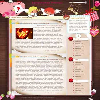 Heart Beat blogger template. converted WordPress to Blogger template. blogger template for love blog