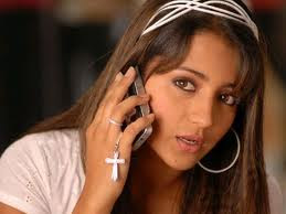 trisha talking on phone