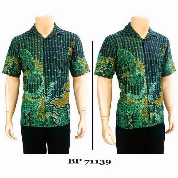 Baju Hem Batik Cap Pria BP71139