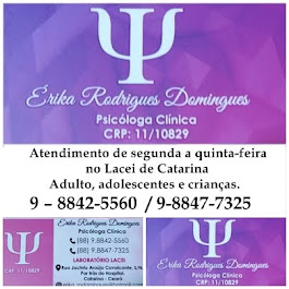 Atendimento de segunda a quinta-feira no Lacei de Catarina - Adulto, adolescentes e crianças.