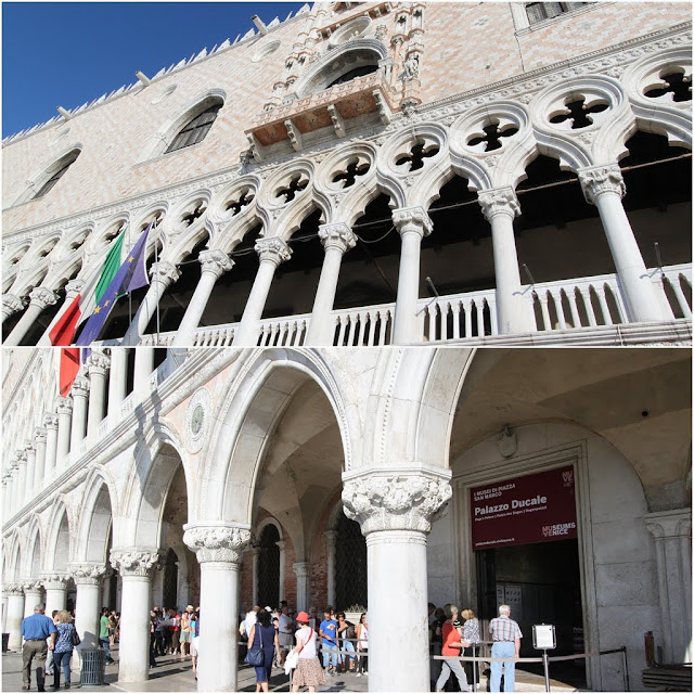 Palazzo Ducale is a famous historic museum to see the masterpiece of Gothic architecture, paintings, the chamber halls and the prison cells in Venice, Italy