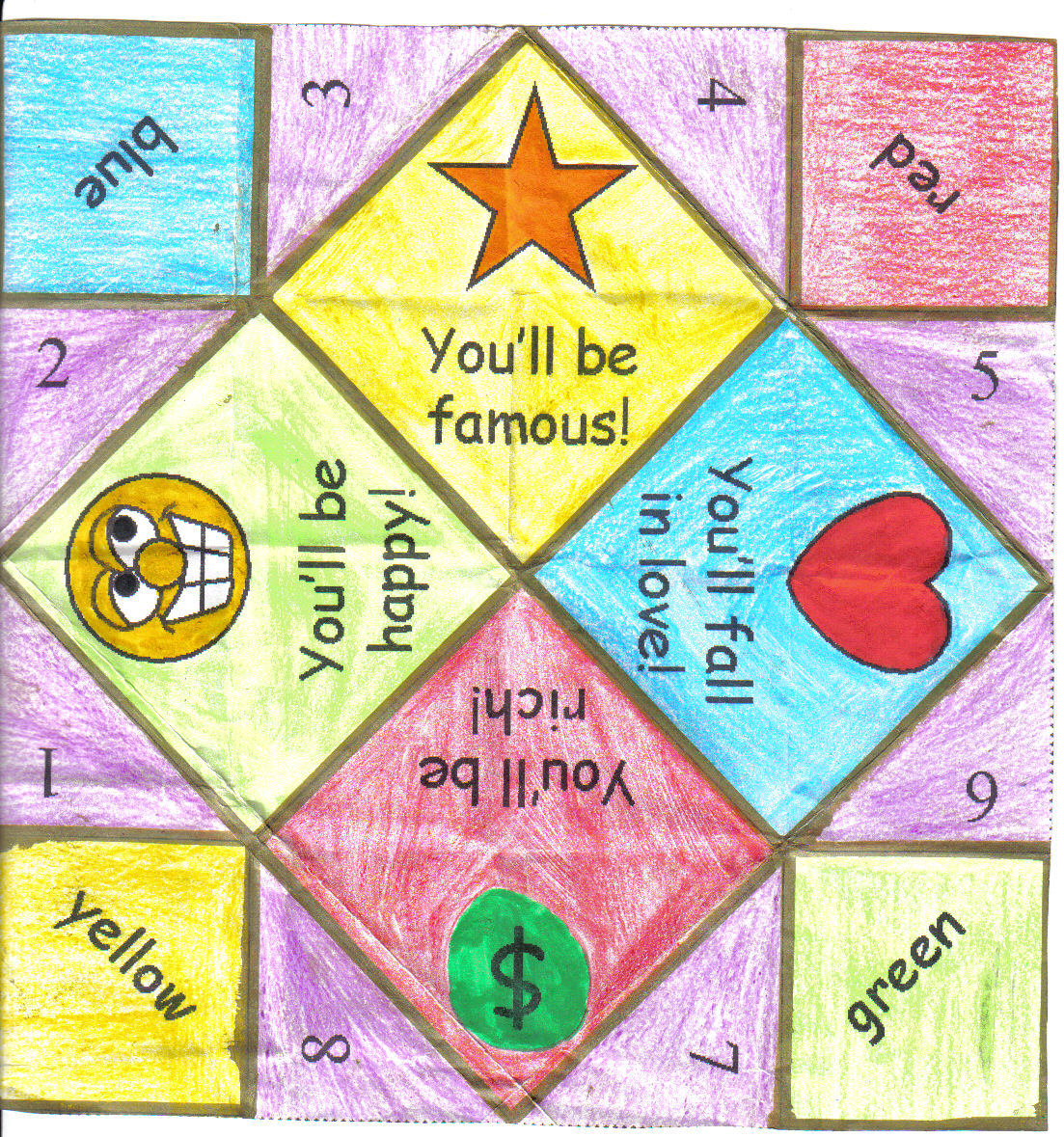 pick english with tics easter fortune teller