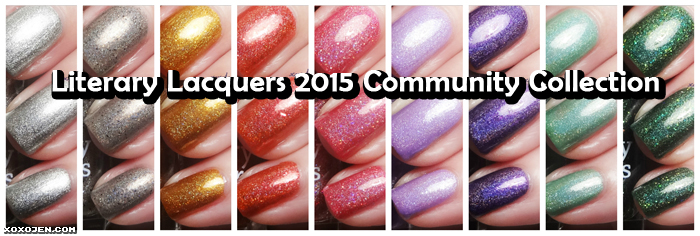xoxoJen's swatches of Literary Lacquers 2015 Community Collection