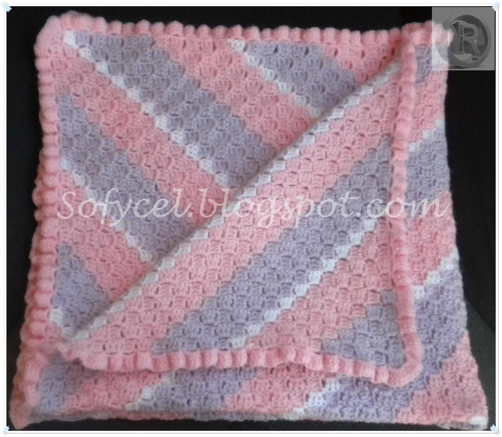Sofycel creaciones manta bebe - Mantas de bebe hechas a ganchillo ...