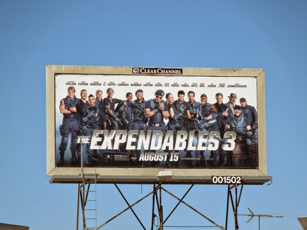 The Expendables 3 film billboard