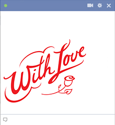 With love - Facebook sticker