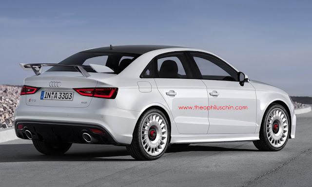 Audi RS3 Sedan Rendering by Theophilius Chin