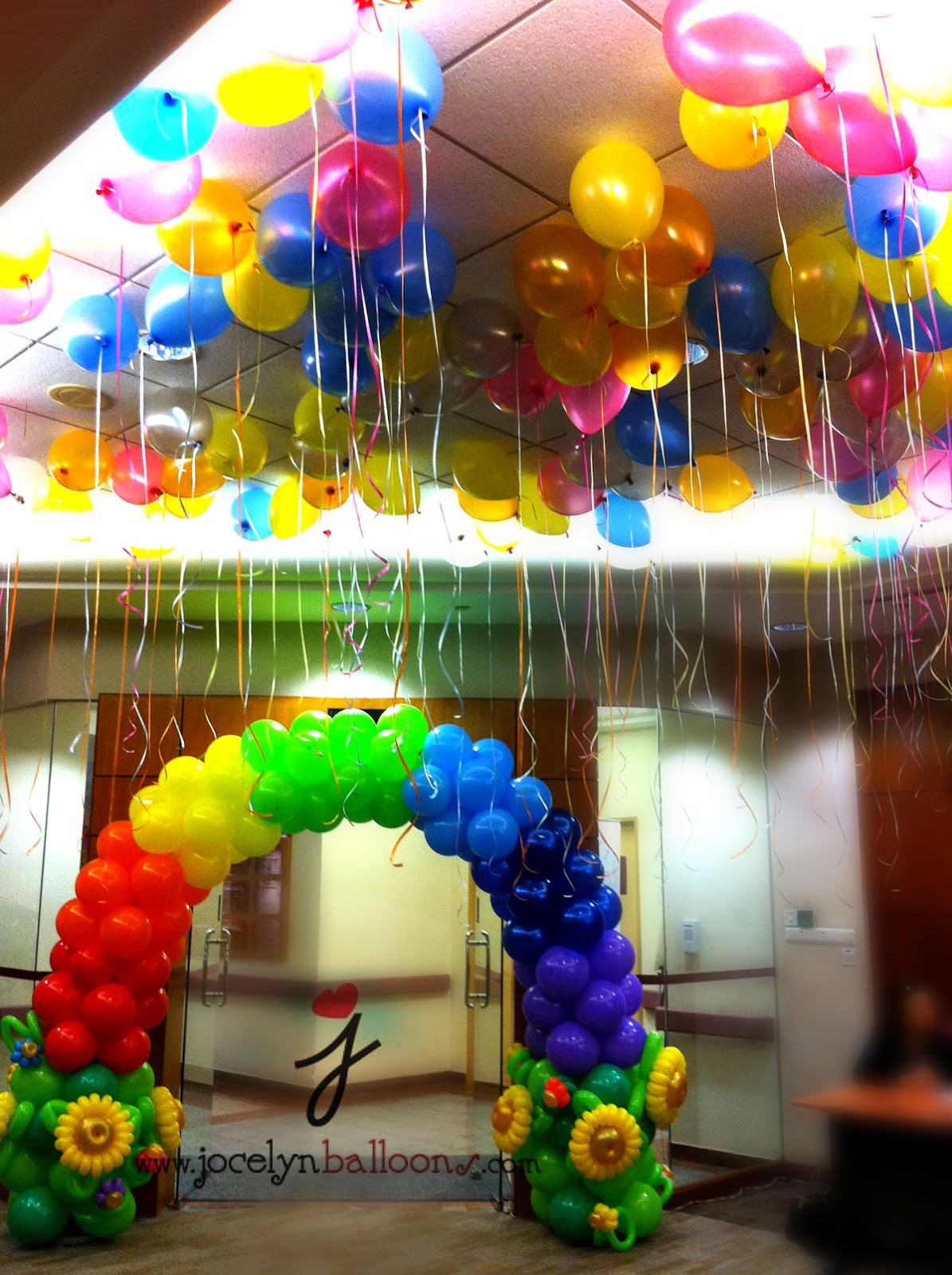 Jocelyn ng professional balloon artist blog balloon for How to make a rainbow arch