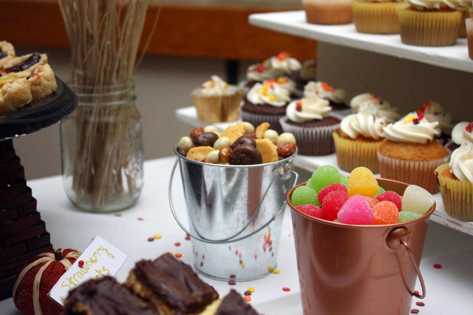 Candy buffet for fall wedding