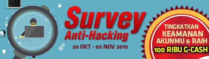 Ikuti Survey Anti-Hacking Gemscool, Tingkatkan Keamanan Akun dan Raih G-Cash 100 Ribu