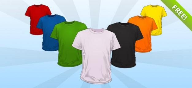 template kaos polos aneka warna dalam format PSD, Template kaos ...