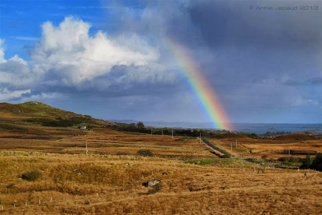 rainbow day in Connemara© Annie Japaud 2013, nature photography, landscapes, Connemara, Ireland, rainbows,