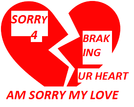 Broken Heart Image-Am sorry for breaking your heart