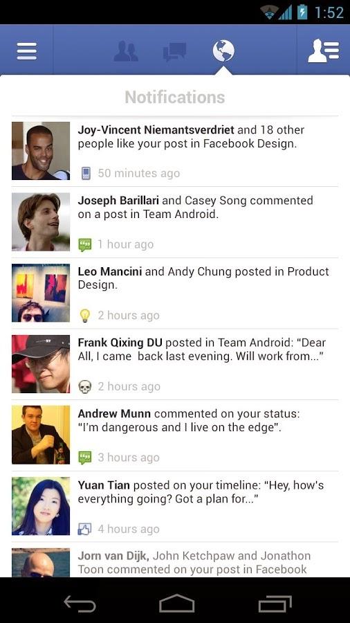 Facebook Android Apk Uygulaması resimi 1