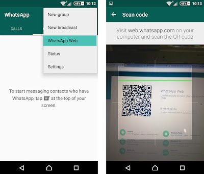 Whatsapp web connect settings