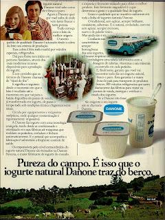 propaganda iogurte Danone - 1976. anos 70.  década de 70. os anos 70; propaganda na década de 70; Brazil in the 70s, história anos 70; Oswaldo Hernandez;