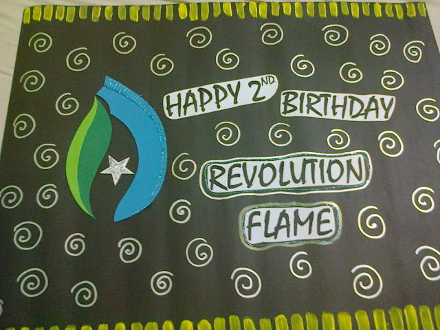 Ayesha Nayyer NYP Birthday Poster Revolution Flame