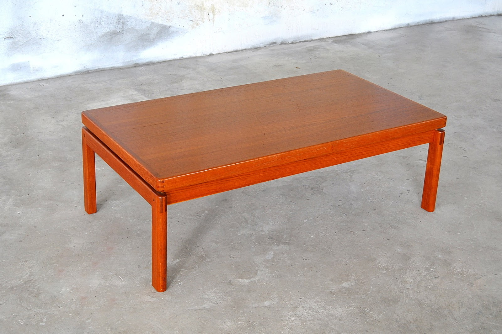 Danish modern coffee table Modern teak coffee table