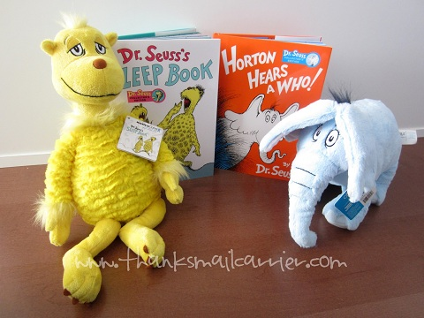 Dr. Seuss books and toys